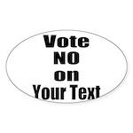 Customizable Vote No Sticker