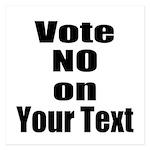 Customizable Vote No Invitations