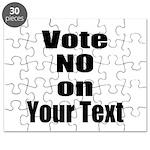 Customizable Vote No Puzzle