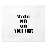 Customizable Vote No King Duvet
