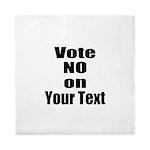 Customizable Vote No Queen Duvet