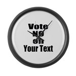 Customizable Vote No Large Wall Clock