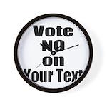 Customizable Vote No Wall Clock
