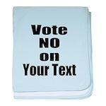 Customizable Vote No baby blanket