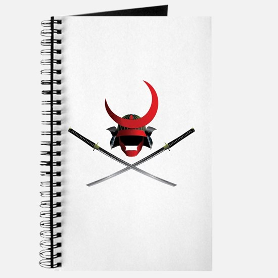 Samurai Helmet and Swords Journal