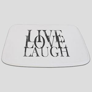 Live Love Laugh Inspirational Quote Bathmat