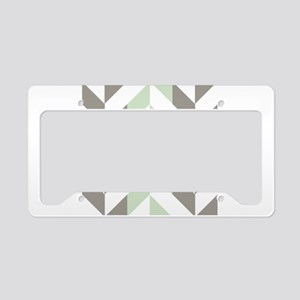 Sage Green and Silver Geometr License Plate Holder