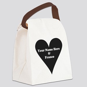 Your Name and Franco Canvas Lunch Bag