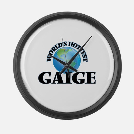 World's Hottest Gaige Large Wall Clock