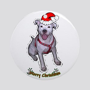 """Holiday """"Gracie"""" Round Ornament"""