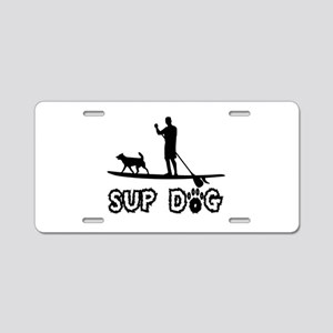 SUP Dog-Dude Aluminum License Plate