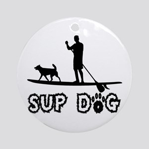 SUP Dog-Dude Ornament (Round)