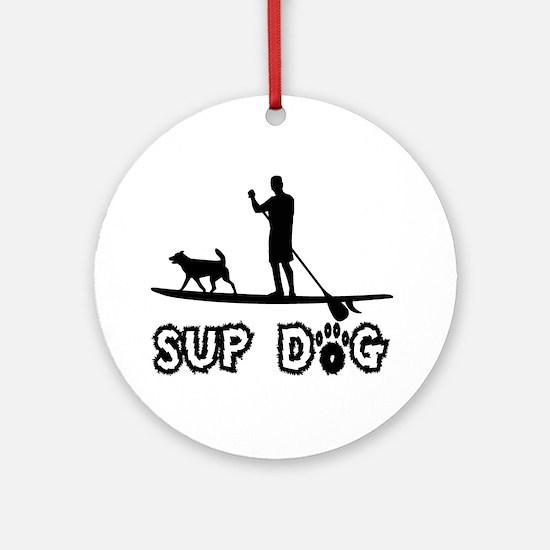 SUP Dog-Dude Ornament (Round)