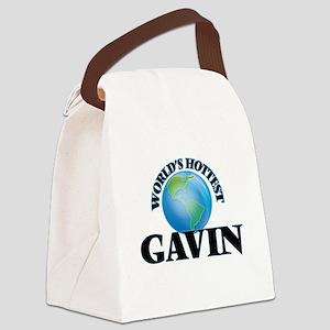 World's Hottest Gavin Canvas Lunch Bag