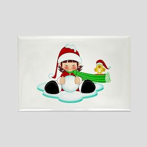 Snowball Fun- Rectangle Magnet