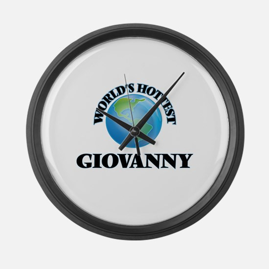 World's Hottest Giovanny Large Wall Clock