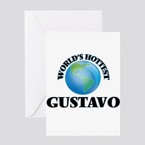 World's Hottest Gustavo Greeting Cards