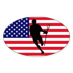 Lacrosse IRock America Oval Decal