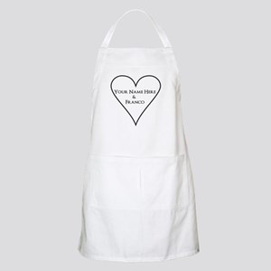 White Heart Your Name and Franco Apron