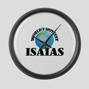 World's Hottest Isaias Large Wall Clock