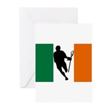 Lacrosse IRock Ireland Greeting Cards (Package of