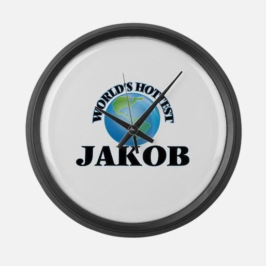 World's Hottest Jakob Large Wall Clock