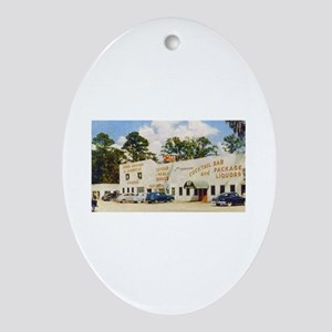 White Kitchen Oval Ornament
