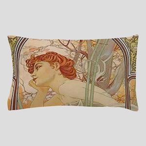 Mucha - Art Nouveau In The Garden Pillow Case