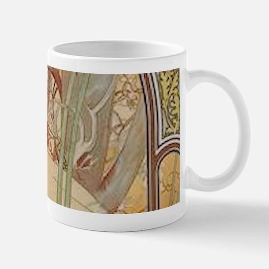 Mucha - Art Nouveau In The Garden Mugs