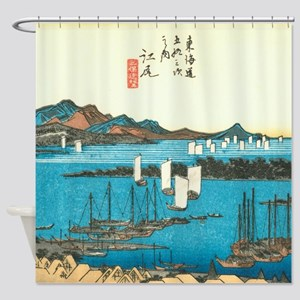 Ejin By Hiroshige Shower Curtain