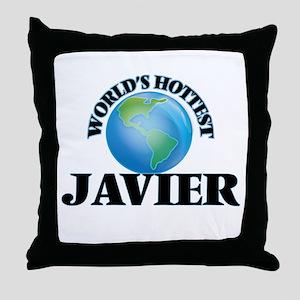World's Hottest Javier Throw Pillow