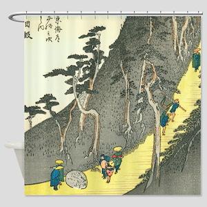 Nissaka by Hiroshige. Shower Curtain