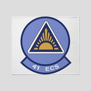 41st Electronic Combat Squadron Throw Blanket