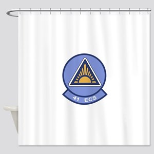 41st Electronic Combat Squadron Shower Curtain