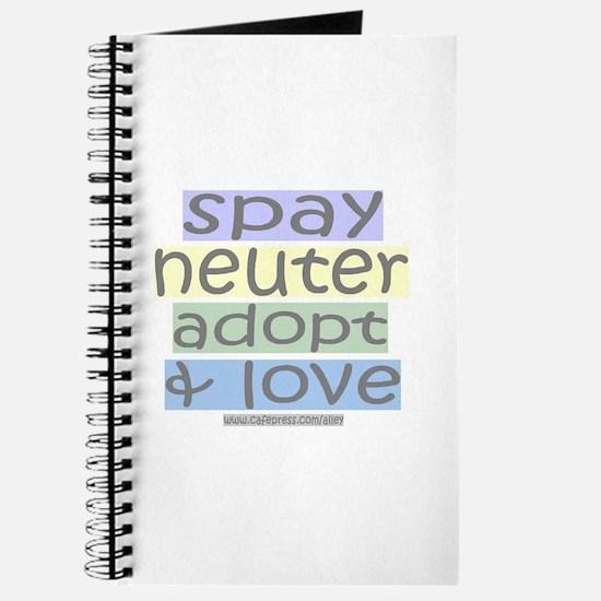 Spay/Neuter/Adopt/Love Journal