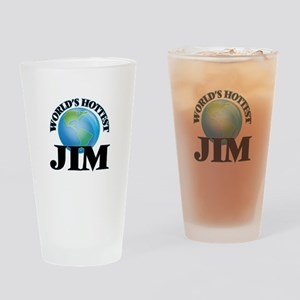 World's Hottest Jim Drinking Glass