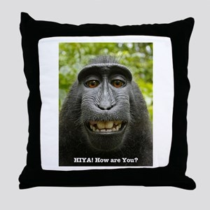 hiya! - how are you? Throw Pillow
