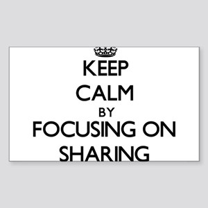 Keep Calm by focusing on Sharing Sticker