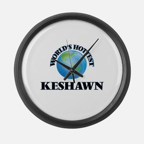 World's Hottest Keshawn Large Wall Clock