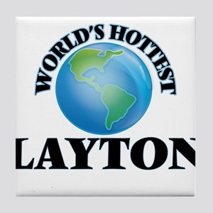 World's Hottest Layton Tile Coaster