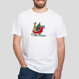 White Ferret T-Shirt: Santa Ferret