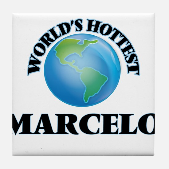 World's Hottest Marcelo Tile Coaster