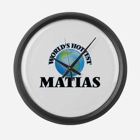 World's Hottest Matias Large Wall Clock