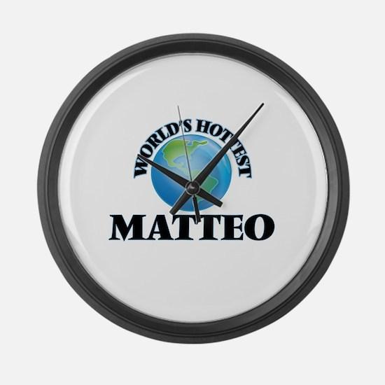 World's Hottest Matteo Large Wall Clock