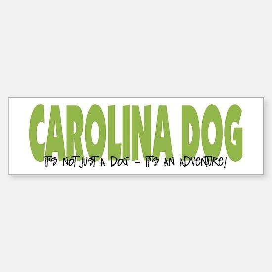 Carolina Dog IT'S AN ADVENTURE Bumper Bumper Bumper Sticker