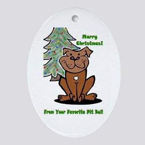 """Holiday """"Favorite"""" Oval Ornament"""
