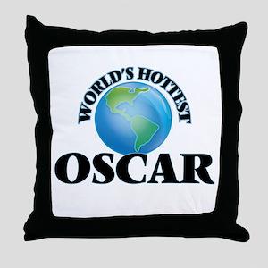 World's Hottest Oscar Throw Pillow