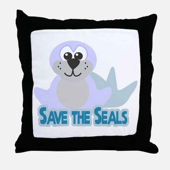 Save the Seals Throw Pillow