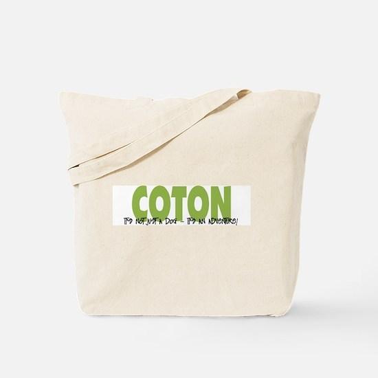 Coton IT'S AN ADVENTURE Tote Bag