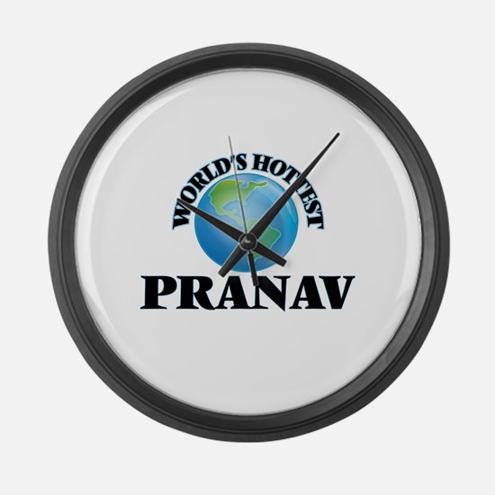 World's Hottest Pranav Large Wall Clock